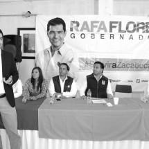 RAFA FLORES COMPROMETIDO CON SEIS TEMAS BÁSICOS PARA EL DESARROLLO ESTATAL