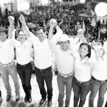 LLEGÓ EL MOMENTO DEL CAMBIO, CLAMA RAFA FLORES EN MULTITUDINARIOS CIERRES