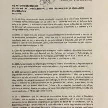 TRAS 18 AÑOS, PRESENTA RENUNCIA TOÑO MEJÍA AL PRD