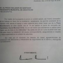 REVIRA EL AYUNTAMIENTO, MORENA NUNCA PIDIÓ LA PLAZA DE ARMAS