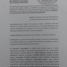 IMPUGNA DAVID MONREAL ELECCIÓN DEL 5 DE JUNIO