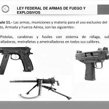 DETIENEN A MUJER CON ARMAMENTO DE EXCLUSIVO USO MILITAR