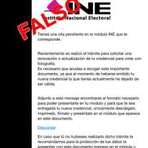ALERTA INE SOBRE DIFUSIÓN DE CORREOS FALSOS
