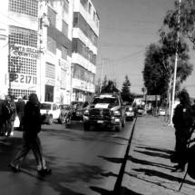 ANTORCHISTAS SON RECIBIDOS EN CDHEZ CON OPERATIVO POLICIACO