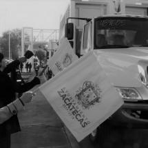 DAN SALIDA A 2 NUEVOS CAMIONES RECOLECTORES DE BASURA