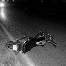 ACRIBILLAN A MOTOCICLISTA EN LA CARRETERA 54