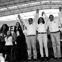 CLAUDIA AL SENADO; NORMA, CARLOS Y ROBERTO A LAS DIPUTACIONES FEDERALES