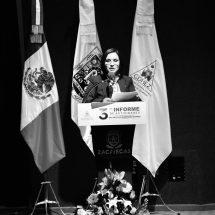 PRESIDENTA DE LA CDHEZ PRESENTA SU III INFORME