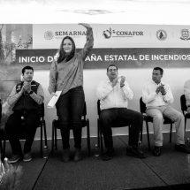 TRABAJO COORDINADO DE LOS TRES NIVELES DE GOBIERNO PERMITIRÁ COMBATIR EFICAZMENTE LOS INCENDIOS FORESTALES