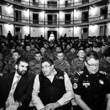 SE REUNE SAÚL MONREAL CON POLICÍAS Y MILITARES