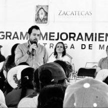 ENTREGAN APOYOS A LA VIVIENDA EN ZONAS RURALES DEL MUNICIPIO DE ZACATECAS