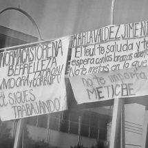 TRABAJADORES DE SALUD EXHIBEN RECHAZO CONTRA NORMA CASTORENA Y KARLA VALDEZ