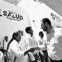 ENTREGA TELLO CENTRO DE SALUD EN JOAQUÍN AMARO