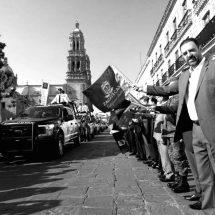 RECONOCE TELLO GESTIONES PARA FORTALECER POLICÍA MUNICIPAL