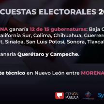 MORENA GANARÍA 12 DE LAS 15 GUBERNATURAS, INCLUYENDO ZACATECAS