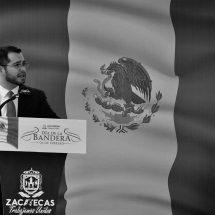 ENCABEZA SECRETARIO GENERAL DE GOBIERNO ACTO CONMEMORATIVO POR EL DÍA DE LA BANDERA