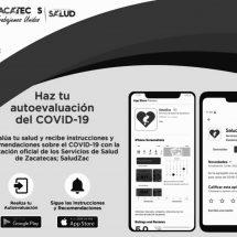 ⭕️ INCORPORAN PRUEBA DE AUTOEVALUACIÓN COVID-19 A APLICACIÓN SALUDZAC